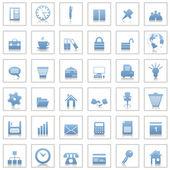 Kontoret och business ikoner set — Stockvektor
