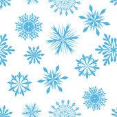 Płatki śniegu bezszwowe tło — Wektor stockowy