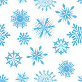 シームレスな雪片背景 — ストックベクタ