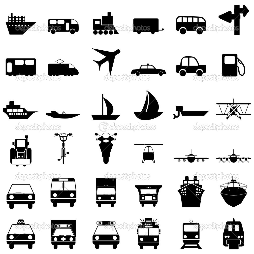 Transportation set of different vector web icons — Stock Vector #3627917