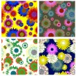 Seamless floral backgrounds set — Stock Vector #3634225
