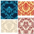 Seamless damask patterns set — Stock Vector #3634342