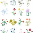 Royalty-Free Stock Imagen vectorial: Flowers set