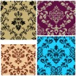 Seamless damask patterns set — Stock Vector #3634440