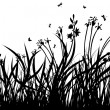 Meadow silhouettes — Vector de stock
