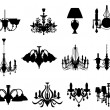 Set of lamps silhouettes — Stockvector #3635931