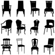 Stock Vector: Chairs set