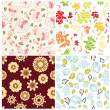 Royalty-Free Stock Vector Image: Seamless floral backgrounds set