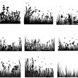 Meadow silhouettes — Stock vektor #3636332