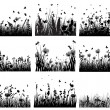 Meadow silhouettes — 图库矢量图片