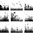 Meadow silhouettes — Stockvektor