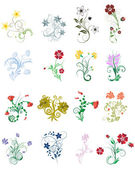 Flowers set — Stockvector
