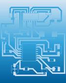 Electrical scheme — Stock Vector