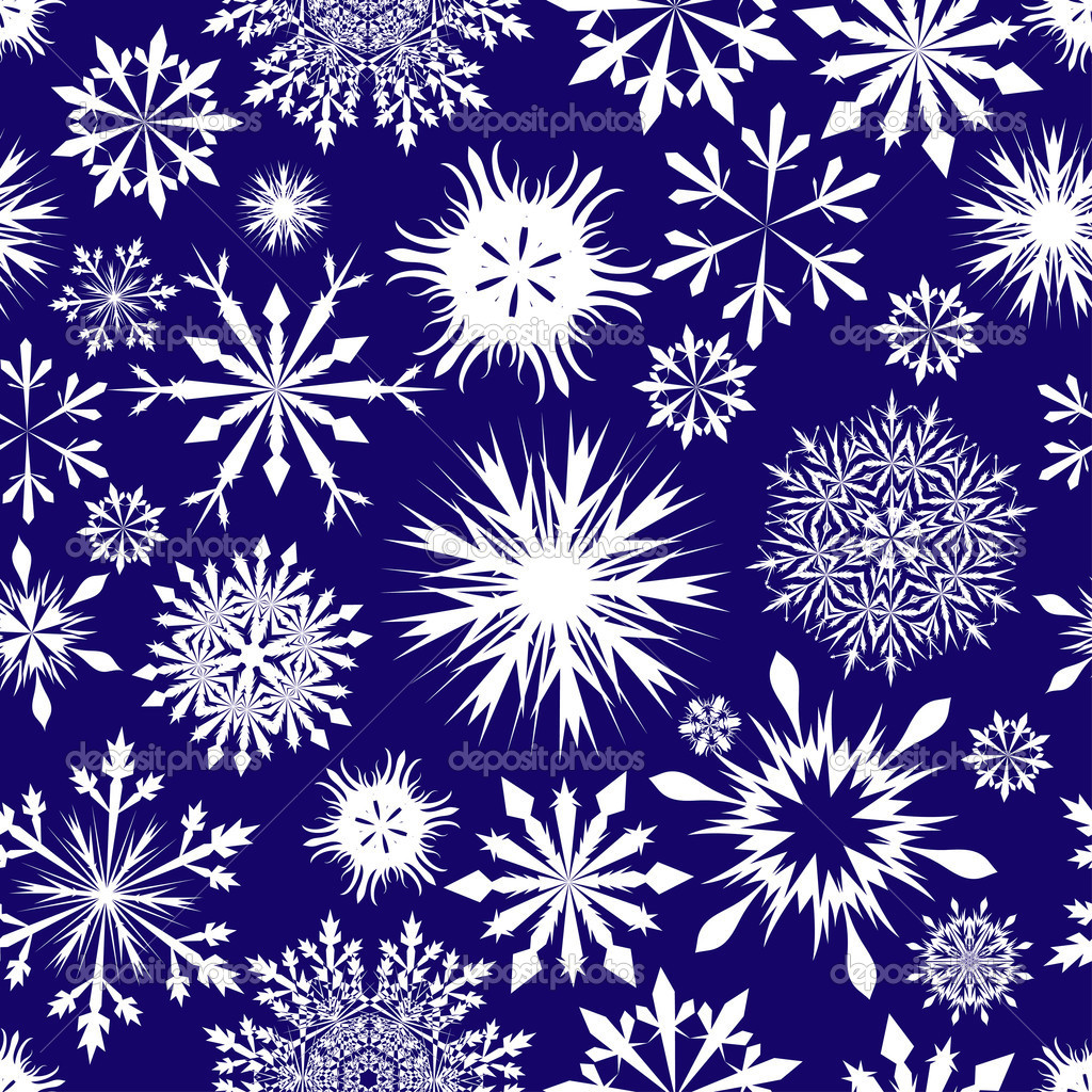 Seamless snowflakes background for winter and christmas theme — Stock Vector #3631840