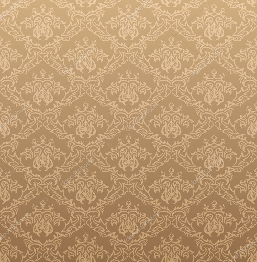 Damask seamless vector background For easy making seamless pattern just  drag all group into swatches bar. Seamless Victorian Wallpaper Texture