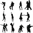 Dance silhouette set — Stock Vector #3652659