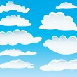 Stock Vector: Different clouds
