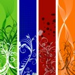 Royalty-Free Stock Vector Image: Floral banners set