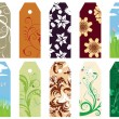 Floral bookmark — Image vectorielle