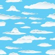 Stock Vector: Seamless cloud background