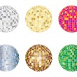Disco spheres - Stock Vector