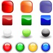 Web buttons set — Stock Vector