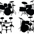 Royalty-Free Stock Vector Image: Drums kits