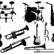 Set of musical instruments — Stock Vector #3657938