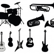 Royalty-Free Stock Vector Image: Set of musical instruments