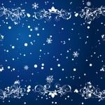 Snowflakes frame — Stock Vector