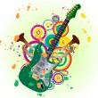 Royalty-Free Stock Vector Image: Grunge guitar