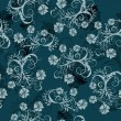 Floral seamless background — Stockvectorbeeld