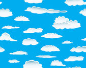 Clouds seamless — Stock Vector