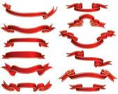 Golden ribbons — Stock Vector