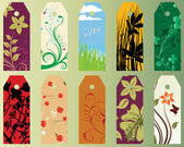 花のブックマーク — ストックベクタ