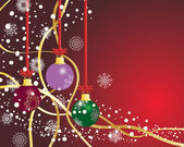 Christmas postcard — Vector de stock