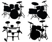 Drums kits — Stockvector