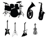 Set of musical instruments — Stock Vector