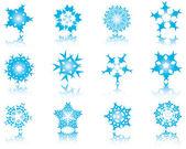 雪片のセット — ストックベクタ