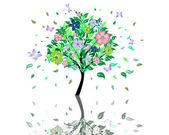 дерево цвести — Cтоковый вектор