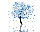 Blossom träd — Stockvektor