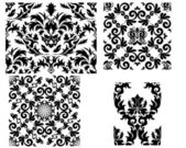 Damask seamless pattern — Stock Vector