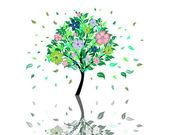 árbol de flor — Vector de stock