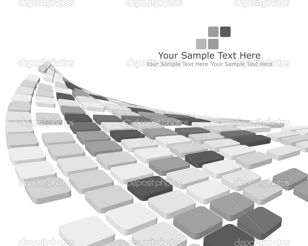 Abstract 3d checked  business background for use in web design — Stock Vector #3652424