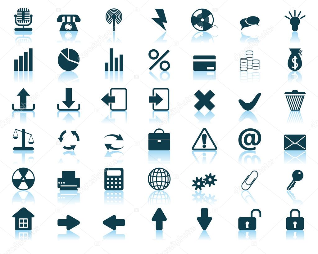 New collection of different icons for using in web design  Stock Vector #3657148
