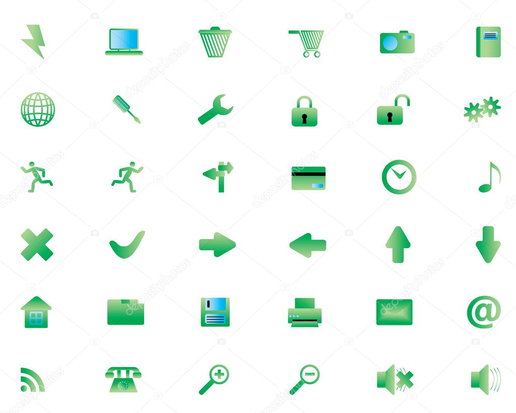 Biggest collection of different icons for using in web design — Stock Vector #3657149