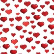Seamless hearts background - Stok Vektr