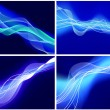 Set of neon glow backgrounds — Stock Vector