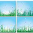 Grass silhouettes set — Stock Vector #3662215