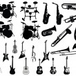 Set of musical instruments — Image vectorielle